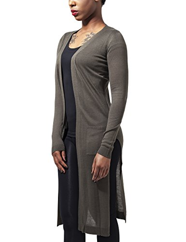Urban Classics Damen Cape Ladies Fine Knit Long Cardigan, Grün (Olive 176), X-Small