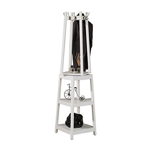 GJymj Rotierenden Massivholz Garderobenboden Schlafzimmer Kleiderbügel Flur Garderobe kreative Multi-Purpose vertikale Hut Racks (Farbe : B)