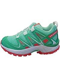 Salomon XA PRO 3D - Zapatillas deportivas infantiles, grün / rosa / weiß, 9.0K UK - 26 EU