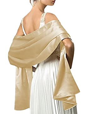 QIYUN.Z Bufandas De La Tarde De Las Mujeres Boda Nupcial Del Cabo Pashminas Chal Wraps 180 * 50 Cm (70 * 19 Pulgadas)