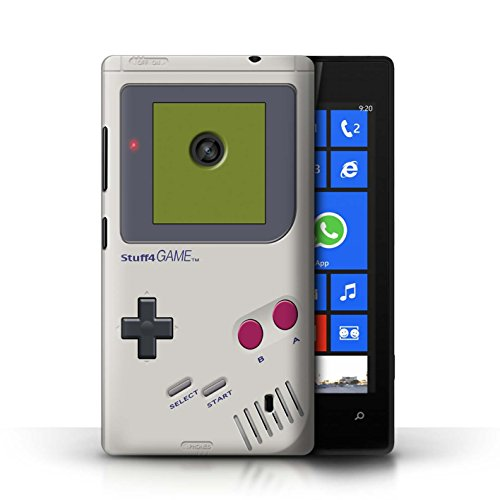 KOBALT® Protective Hard Back Case / Cover for Nokia Lumia 520 | Nintendo Game Boy Design | Games Console Collection