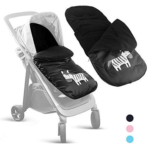Besrey 3 in 1 Fußsack Schlafsack Polster universal passend für meisten Baby Kinderwagen Buggy Stroller - schwarz