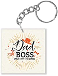 YaYa Cafe Fathers Day Gifts Funny Dad Boss Keychain Keyring For Dad