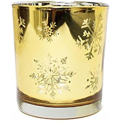 Brillo de vidrio esmerilado té titular luz vela salón con la decoración del dormitorio para regalo de cumpleaños,1pcs,Gran 3,94 ' x 4.93
