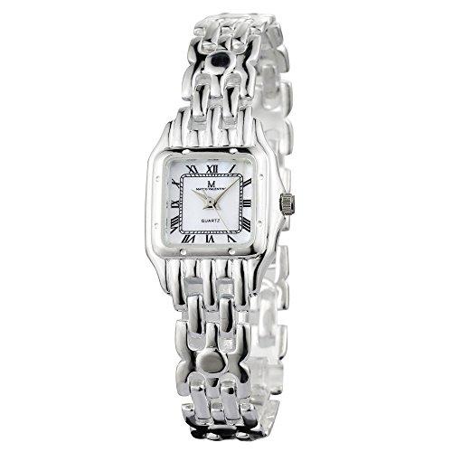 Damen-Luxus Kleid Uhr, in Sterling Silber, 925markiert, mit Amtlicher Punze des Londoner edelmetallkontrollamts, Perlmutt Zifferblatt, römischen Ziffern, hochwertiger Verpackung.