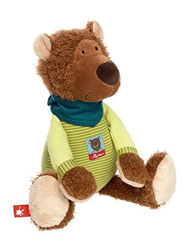 sigikid, Jungen, Stofftier Bär, Boschel Bear, Braun/Grün, 39019