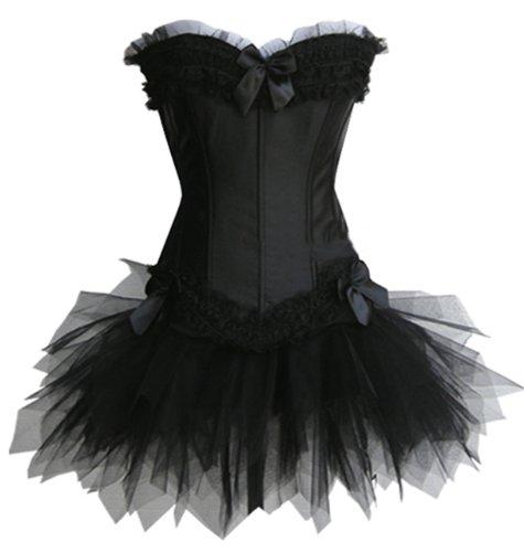 exclusive Corsage und Tutu-Rock aus T�ll, schwarz, - Kostüm Frauen Engel