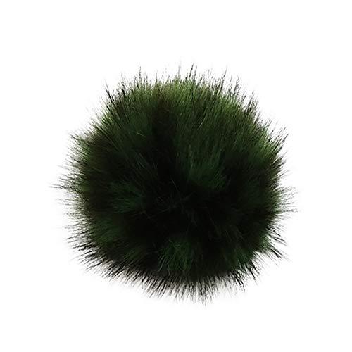 Ostern beste Geschenke !!! Beisoug DIY Strickmützen Accessires-Faux Gefälschte Fleece Plüsch Pom Pom Ball mit Gummiband (13 cm)