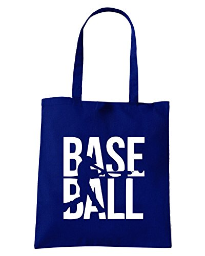 T-Shirtshock - Borsa Shopping SP0013 Baseball Pitcher Maglietta Blu Navy