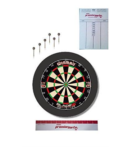 Darts Starter-Set inkl. Blade 5, schwarzem Surround, Darts, Markerboard, Abwurflinie