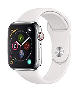 Apple Watch Series 4 (GPS + Cellular) con caja de 44 mm de acero inoxidable y correa deportiva blanca (B07K1X36CB) | Amazon price tracker / tracking, Amazon price history charts, Amazon price watches, Amazon price drop alerts