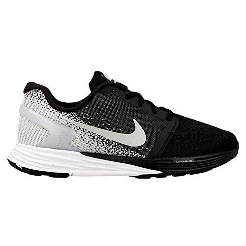 Nike Lunarglide 7 (Gs), Chaussures de Running Compétition Garçon Noir / Argenté / Gris (Blck / Mtllc Slvr-Wlf Gry-Cl Gry)