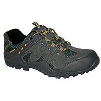 Northwest Territory Mens Nevada Fully Waterproof Walking/Hiking LACE UP Trainer Shoe (UK8, Grey/Waite)