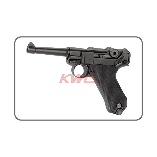 AIRSOFT KWC Pistole Luger: P08 Semi Automatische & Zylinderkopfdichtung Mobile CO2 Alles Metall (0,5 Joule) (Co2-luger Airsoft)