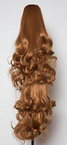 Elegant Hair - 56 cm / 22 pouces queue de cheval boucles toumbants – Auburn clair #30Y - Clip-in pièce de extensions de cheveux réversible - Avec griffe-clip - 30 Couleurs - 250g