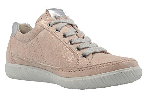 Gabor  66.458.94, Chaussures de ville à lacets pour femme rose Rosa rose-Cassis