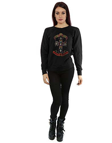 Guns N Roses Femme Appetite for Destuction Distressed Sweat-Shirt Noir