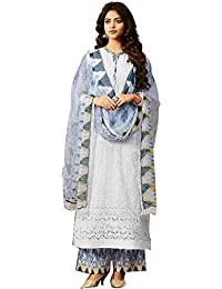 Hautewagon Pure Cotton Embroidered Suits For Women Printed With Mirror Work Unstitched Formal Salwar Suit Dress...