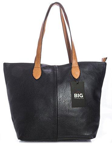 Big Handbag Shop - Sacchetto donna (nero)