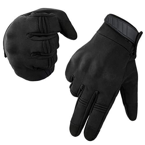 Neusky Herren Taktische Handschuhe Touchscreen Fahrrad Handschuhe Motorradhandschuhe MTB Handschuhe Mountainbike Handschuhe Outdoor Sport Handschuhe Ideal für Airsoft, Paintball (M, Leicht-Schwarz)