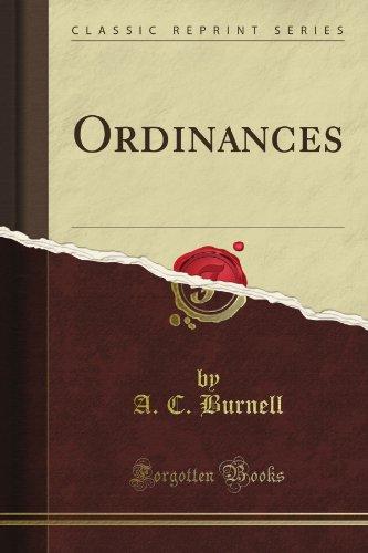 Ordinances (classic reprint)