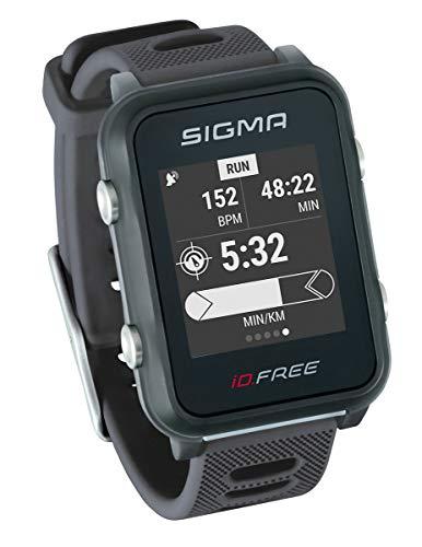 iD.FREE GPS Multisport-Uhr für Outdoor und Navigation, Smart Notifications, Geocaching, Pulsmessung am Handgelenk, wasserdicht, inkl. Fahrradhalterung