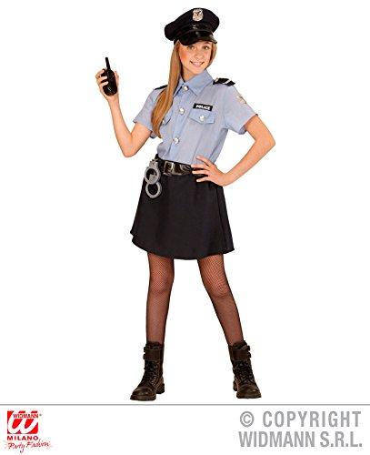 KINDERKOSTÜM - POLICE GIRL - Größe 140 cm, Uniform Polizistin Cop New York Polizei
