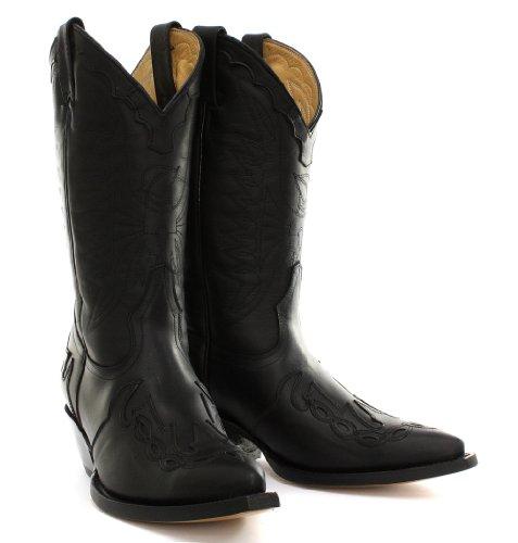 Grinders Arizona Homme Cowboy bottes, Noir Oily Full Black