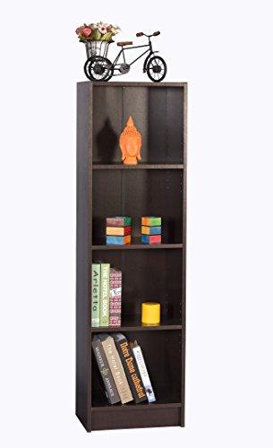 DeckUp Lexis 4-Shelf Bookcase and Storage Unit (Dark Wenge, Matte Finish)