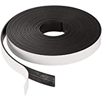 Lvcky Rollo de Cinta magnética Flexible autoadhesiva para proyectos de Bricolaje y pizarras de borrado en seco, 1/16 Pulgadas de Grosor por 1/2 Pulgadas de Ancho por 197 Pulgadas de Largo