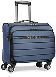 Assembly Overnighter Luggage Business Bag | Laptop Roller Case | 4 Wheel Trolley Bag (Blue)