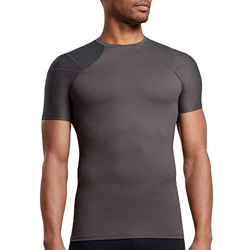 Tommie Copper Herren-Hemd mit Schulterstützen, Damen, Men's Pro-Grade Shoulder Centric Support Shirt, schiefergrau, Large