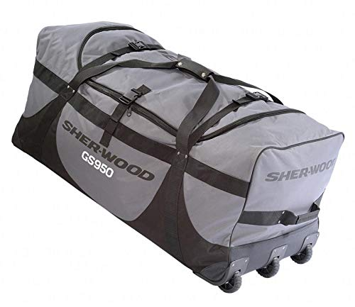 Sherwood SHER-WOOD SL700 Goalie Wheel Bag - 109 x 51 x 53 cm, Farbe:grau/schwarz