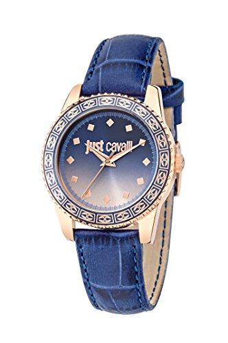 Just Cavalli Damen Uhrenbeweger Accumulation JUST SUNSET Edelstahl blau R7251202505