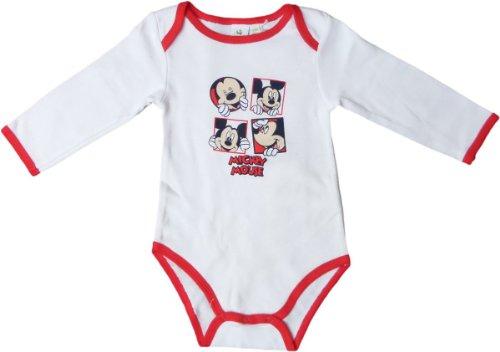 Disney Mickey Mouse Body - Lach mit Micky - Rot/Weiß