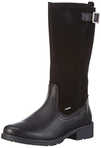 Superfit Heel, Bottes et bottines à doublure chaude fille Noir - Schwarz (Schwarz KOMBI 02)