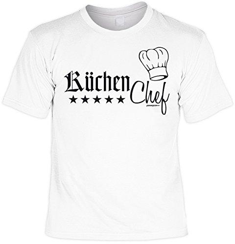 Koch T-Shirt für Köche Laiberl Küchenchef Kochen Geschenk für Köche Koch Artikel Weiß