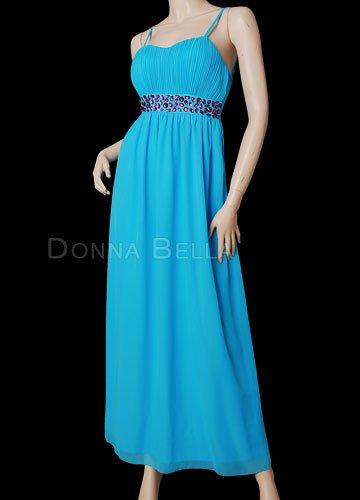 Donna Bella Damen Morgenmantel Blau