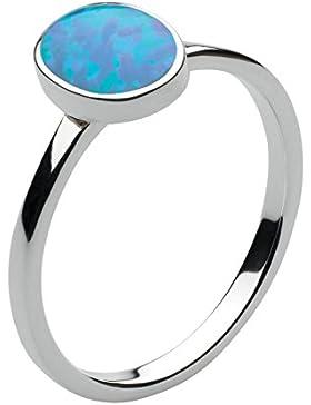 Dew Halskette Sterling-Silber 925 und blauer Opal Oval Cab-Ring