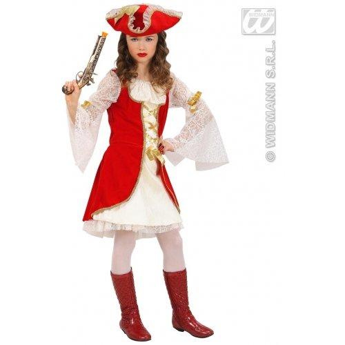 Widmann wdm58797-Kostüm für Kinder Kapitän Pirat (140cm/8-10Jahre), weiß, XS