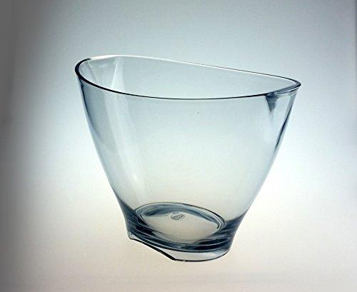 Weinkühler Sektkühler DoimoFlair Miami Bucket aus Kunststoff Transparent/ Sektkühler / Weinkühler / Champagnerschale / Punschschale / für 1 Flaschen