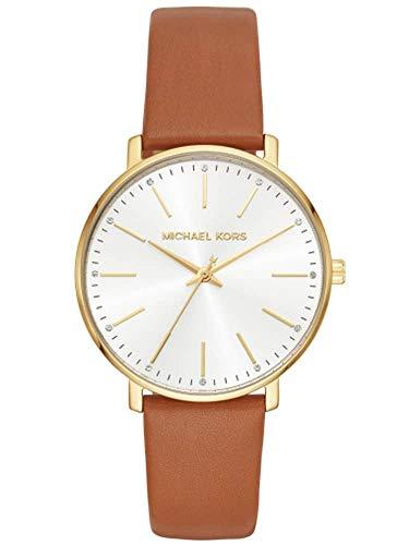 Michael Kors Damen Analog Quarz Uhr mit Leder Armband MK2740