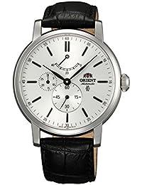 Orient Herren Automatikwerk Schwarz Leder Armband Mineral Glas Uhr FEZ09004W0