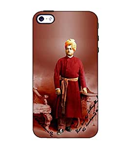 Fuson Designer Back Case Cover for Apple iPhone 5 (Swami Vivekanand Theme)