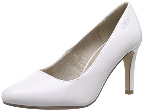 s.Oliver 22401, Chaussures de  Football femme Blanc - Weiß (WHITE PATENT 123)