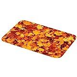 VORCOOL Otoño Hojas de Arce alfombras de la Puerta Piso Amarillo baño Entrada Alfombra Alfombra Absorbente baño Interior decoración 400x600mm