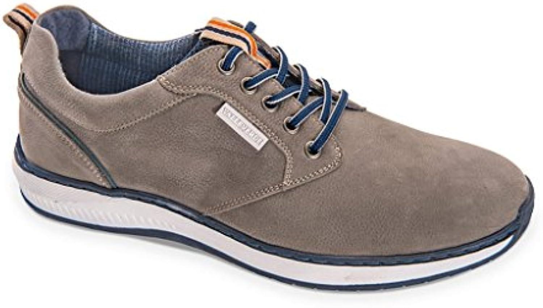 Valleverde Zapatillas Sneakers para Hombre EN Cuero Gris Informal