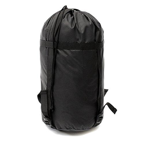 TENGGO Poids Léger Compression Stuff Sac Outdooors Voyage Camping Sac De Couchage Noir