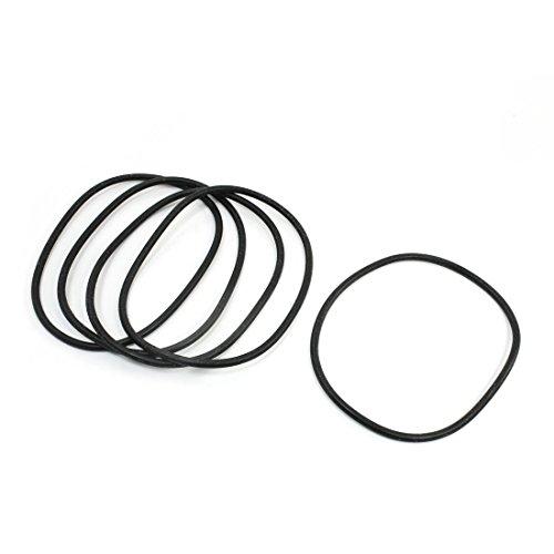 Öldichtring/O-Ring, aus Gummi, flexibel, 130x5mm, Schwarz, 5Stück (130mm Ring)