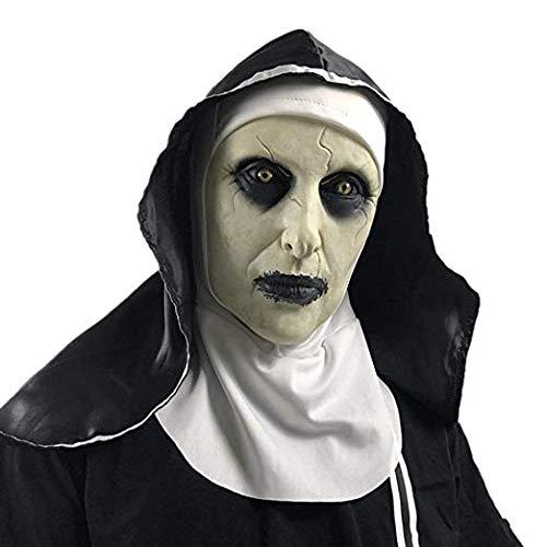 Halloween unheimlich Maske, Nonne Maske unheimlich Angst weibliches Gesicht verdreht Kleidung Partei Gummi Latex Kopfschmuck, unheimlich Kostüm Partei Gummi Latex Maske - Weibliche Dead Clown Kostüm